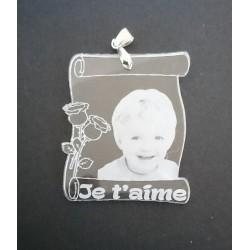 pendentif photo en aluminium anodisé couleurs aux choix