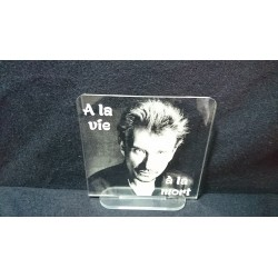 plaque souvenir Johnny Hallyday