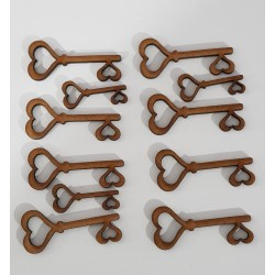 clé coeur en bois