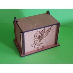 boite contenant à dragées en bois fée personnalisable