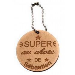 porte cléf clé en bois personnalisé super amis