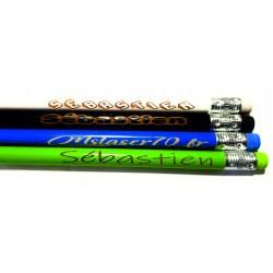lot de crayon de papier de couleur avec la gravure personnalisation de votre choix idée cadeau décoration mariage entreprise
