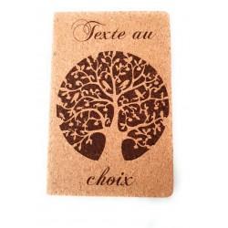 livre d'or en liège arbre de vie personnalisé avec le texte de votre choix mariage baptême communion ...