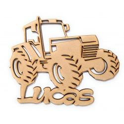 tracteur en bois personnalisé avec un prénom ou un mot